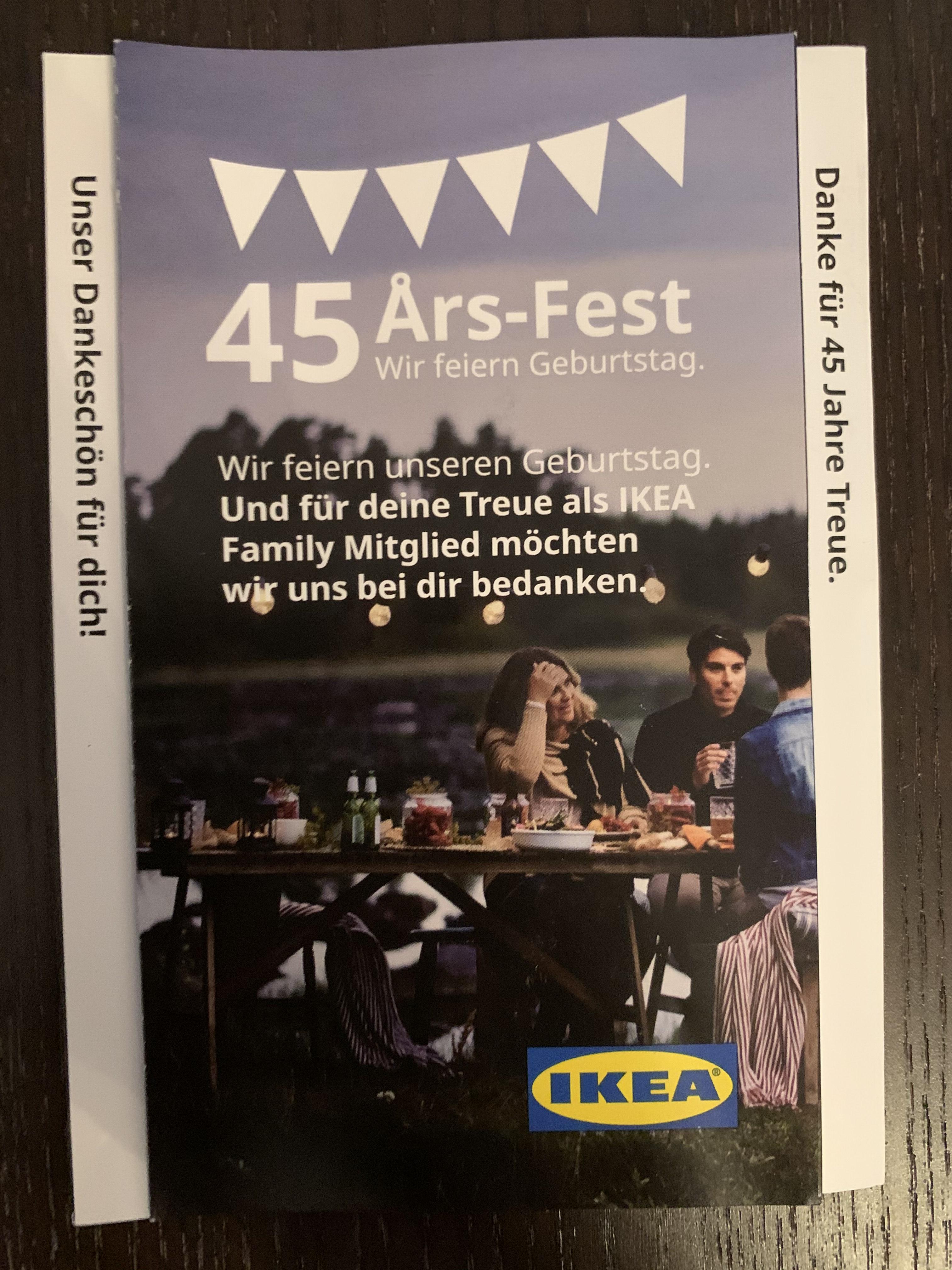 [Ikea - München-Eching] Gratis Hotdogs, Kerze und Zuckerhutfichte für 1€ mit Gutschein für Ikea Family Mitglieder