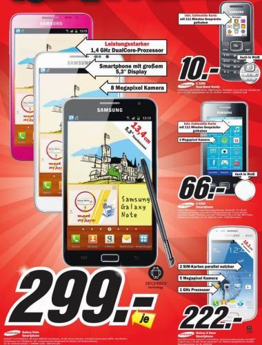 [Lokal?] Samsung Galaxy Note N7000 div. Farben [MM S-Feuerbach]