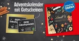 [Bundesweit] Lindt Adventskalender mit EDEKA Gutschein (mind. 5,-€)