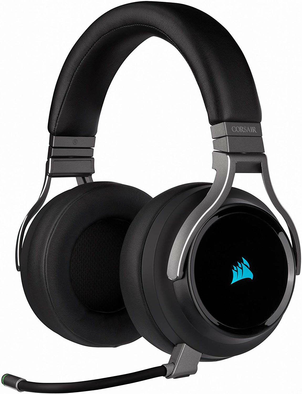 Corsair Virtuoso RGB Wireless High Fidelity 7.1 Surround Sound Gaming Headset (für PC, Xbox One, PS4, Smartphone) in schwarz oder weiß