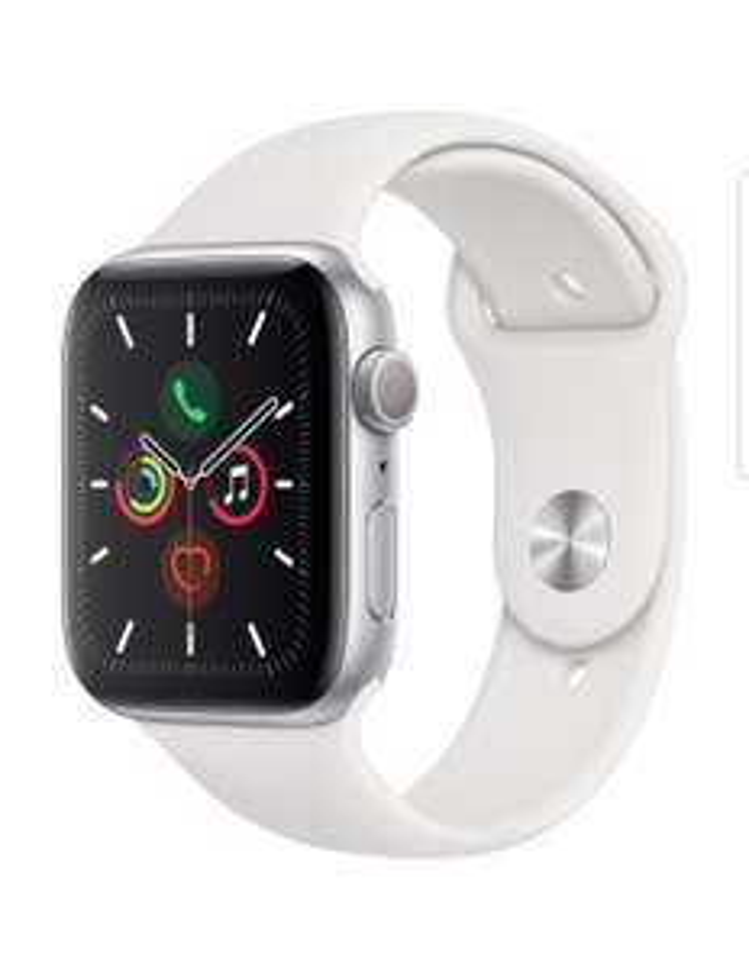 [Alternate Outlet] Apple Watch Series 5 44mm Sportarmband Aluminium Silber (B-Ware)