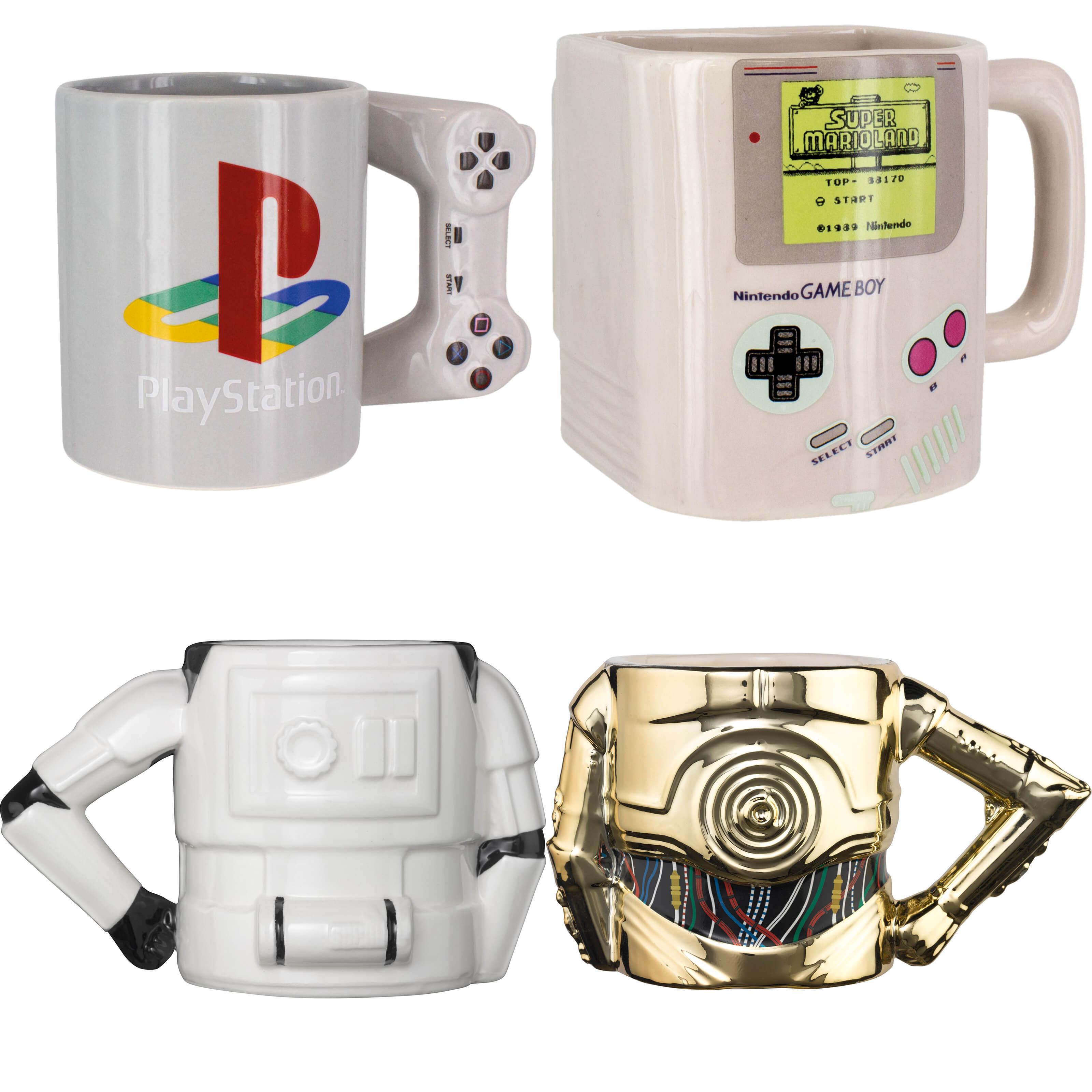 2 Merch-Tassen für 20€, z.B. Star Wars, Playstation, Nintendo, Harry Potter u.v.m.