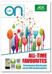 """AOK-Kochbuch """"All-Time Favourites""""  kostenlos bestellen"""