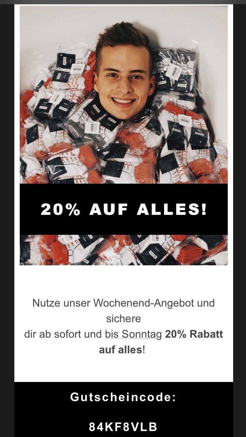 20% Rabatt auf SNOCKS Socken