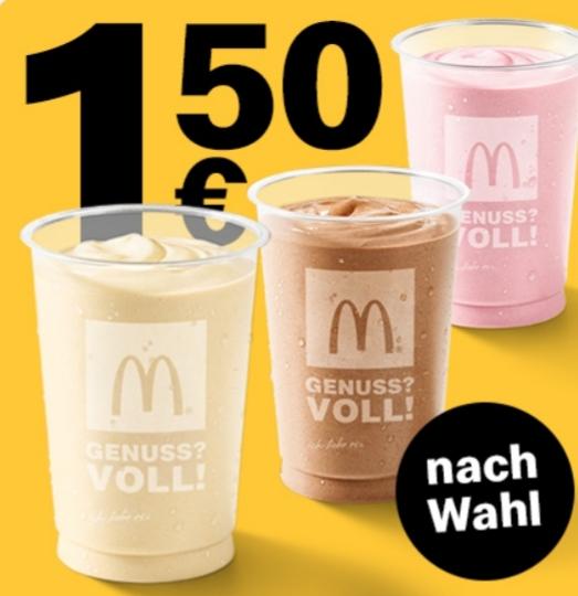 1x Milchshake 0,3L nach Wahl für 1,50€ [McDonald's App]
