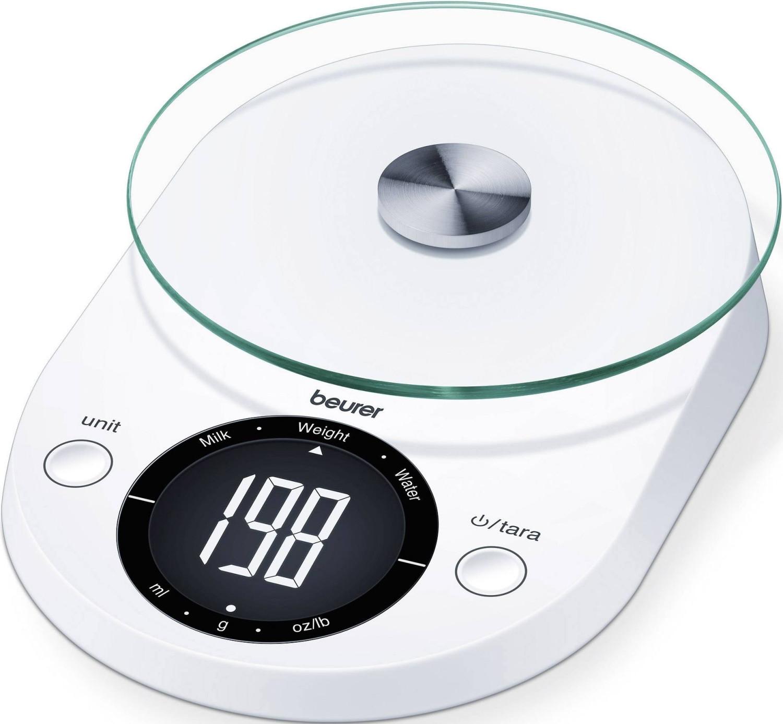 Beurer KS 33 Küchenwaage, Flüssigkeitsanzeige, Tara-Zuwiegefunktion & Abschaltautomatik, Tragekraft 5 kg für 10,70€ (Amazon Prime)