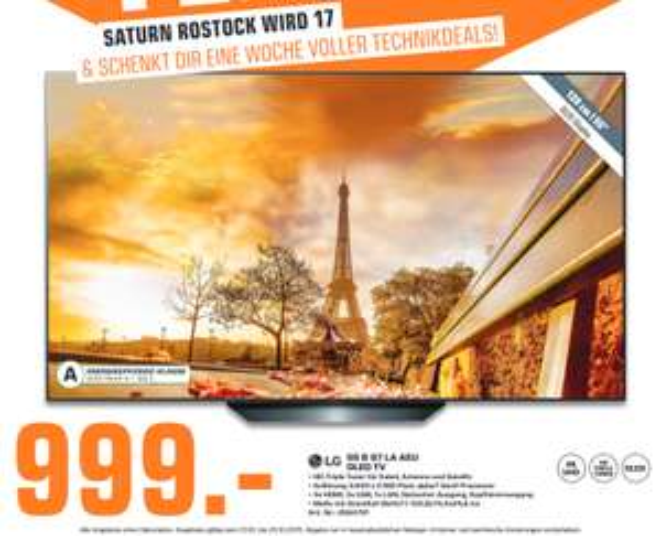 "[lokal: Saturn Rostock] LG OLED55B97LA 55"" 4K Smart OLED TV | Kingston HyperX Cloud II Gaming Headset =59,99€ | Legend of Zelda: BoW =45€"