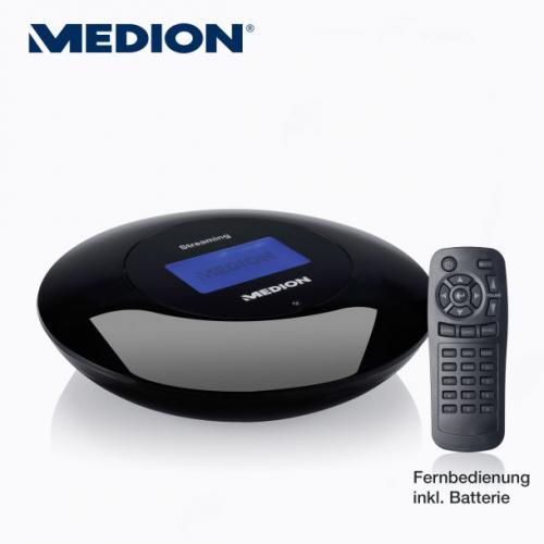 Medion Wireless-LAN-Musik-Streaming-Adapter (DMR) mit integriertem Internetradio für 49,90 Euro ab den 20.12.12 @ Aldi Nord