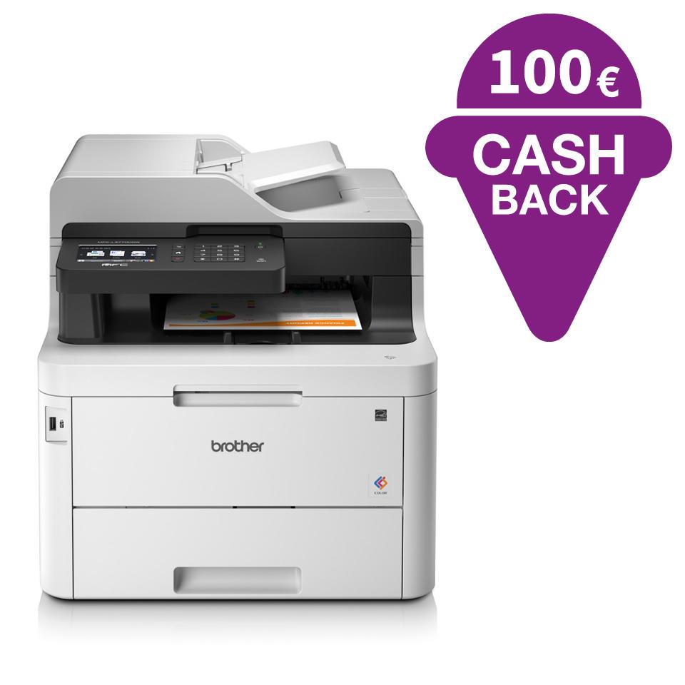 [Office Partner mit Vorkasse] Brother MFC-L3770CDW 4-in-1 Farblaser, Duplex-Scan mit 100 Euro Cashback