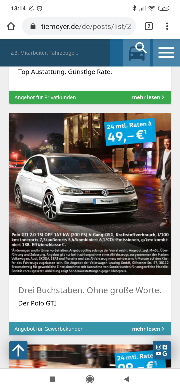 VW Polo GTI *Gewerbeleasing*Inzahlungnahme notwendig*