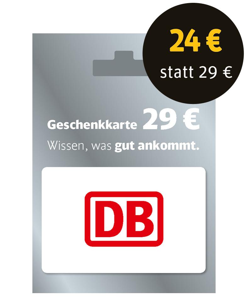 [Rewe] Deutsche Bahn 29€ Geschenkkarte für 24€