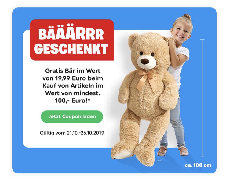 (Smyths Toys Offline) ab 100€ gibts nen Bär (ca. 1m)  geschenkt