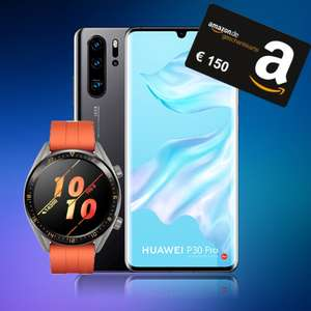 "o2 Free L (30GB LTE) + Huawei P30 Pro + Huawei Watch GT + 150€ Amazon I o2 Free M (10GB LTE) + LG G8s + LG 43"" TV + 110€ Amazon"