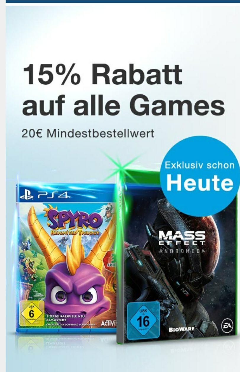 15% Rabatt auf alle gebrauchten Spiele / Games [reBuy]
