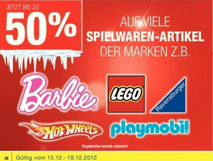 [offline] bis zu 50% auf diverse Spielwaren @Metro