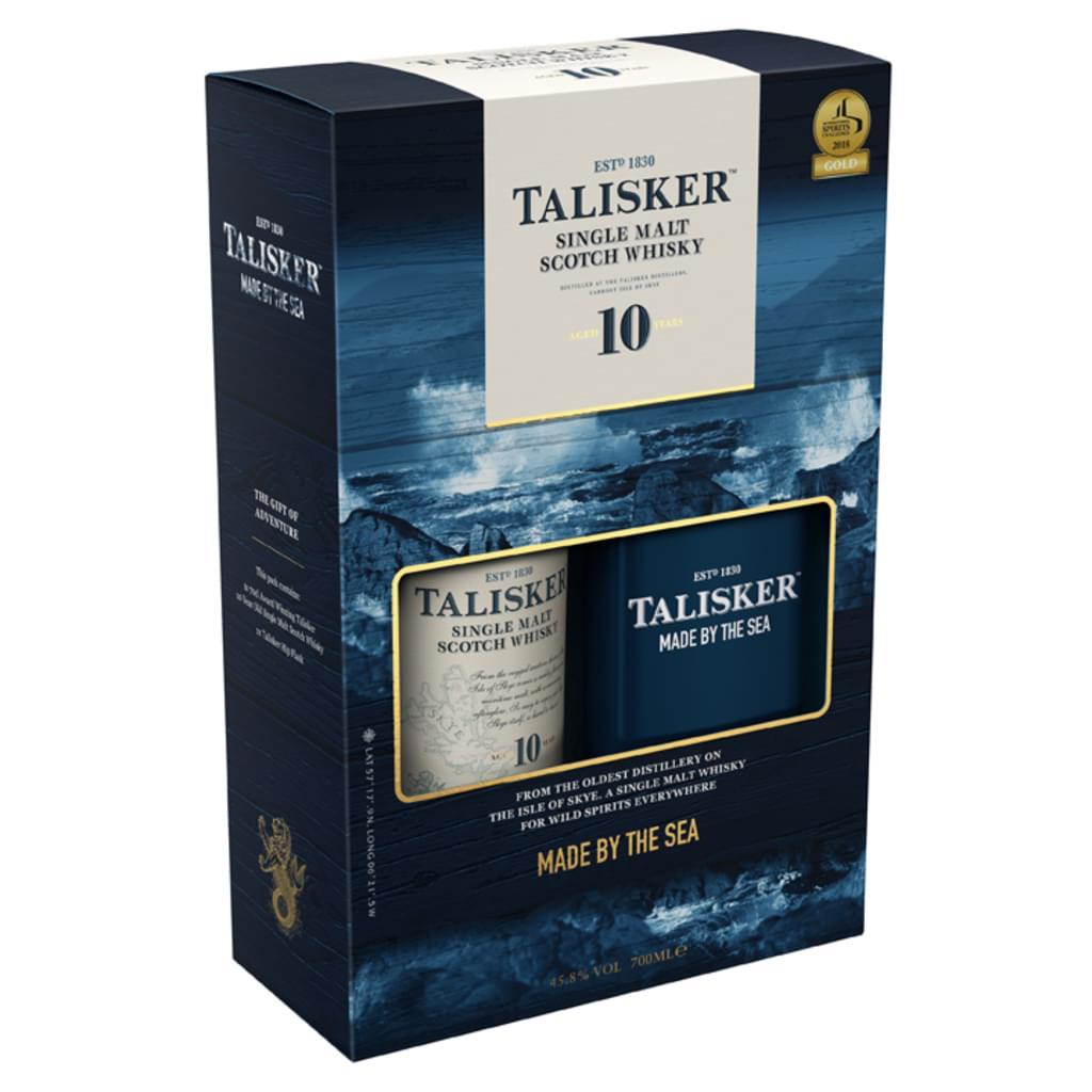 Talisker 10 Jahre ¦ Single Malt Whisky 45,8% 0,7l + Flachmann ¦ mit Marktanlieferung/ab 29€ Mbw - wieder verfügbar