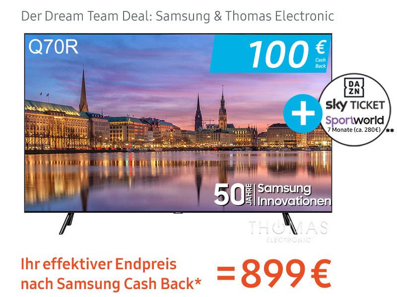 100 Euro Direktabzug für Samsung GQ55Q70RGTXZG