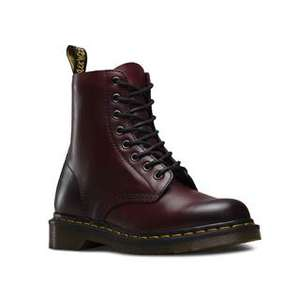 DR. MARTENS 1460 Unisex Black & Red Stiefel/Schuhe im Outlet in Roermond