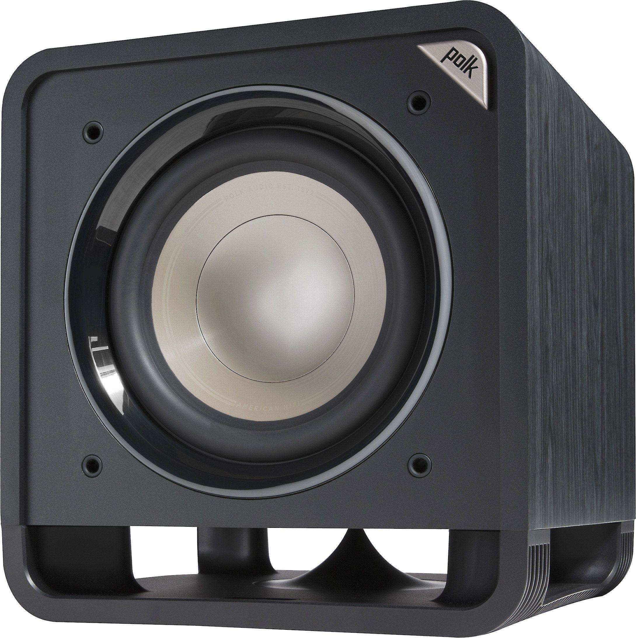 Polk Audio HTS 10 Subwoofer (Class-D, 100W RMS, 25,4cm Tieftöner, 25Hz - 180Hz, 17,1kg)