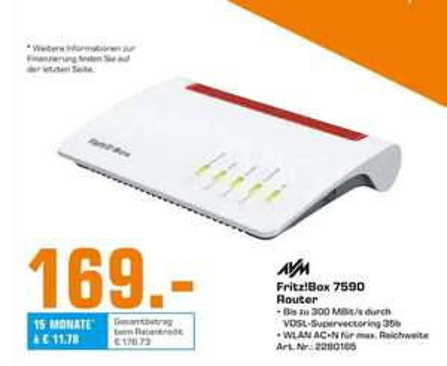 [Saturn Oberhausen] AVM FRITZ!BOX 7590 DSL-Router für 169€