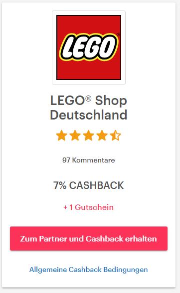 7% Cashback über Shoop im Lego-Online-Shop