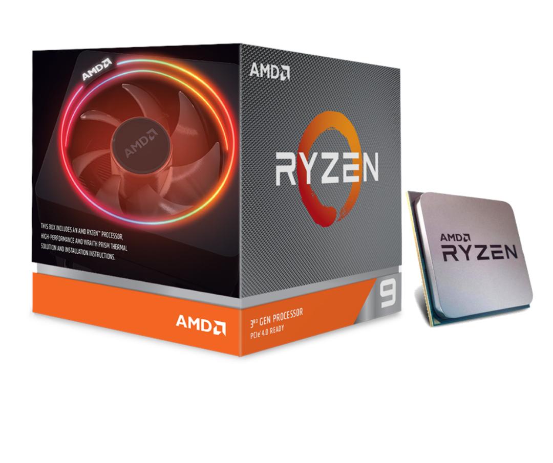 AMD Ryzen 9 3900X 3,8 GHz (Matisse) Sockel AM4 - boxed mit Wraith Prism Kühler