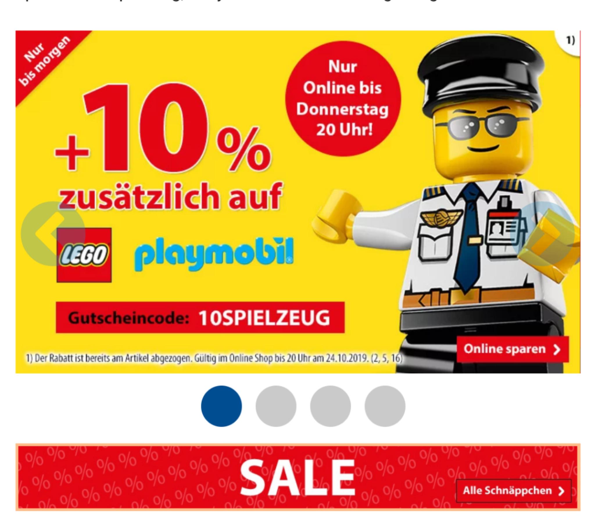 (Gutscheinfehler?) 19% Rabatt auf LEGO & Playmobil bei SpieleMax