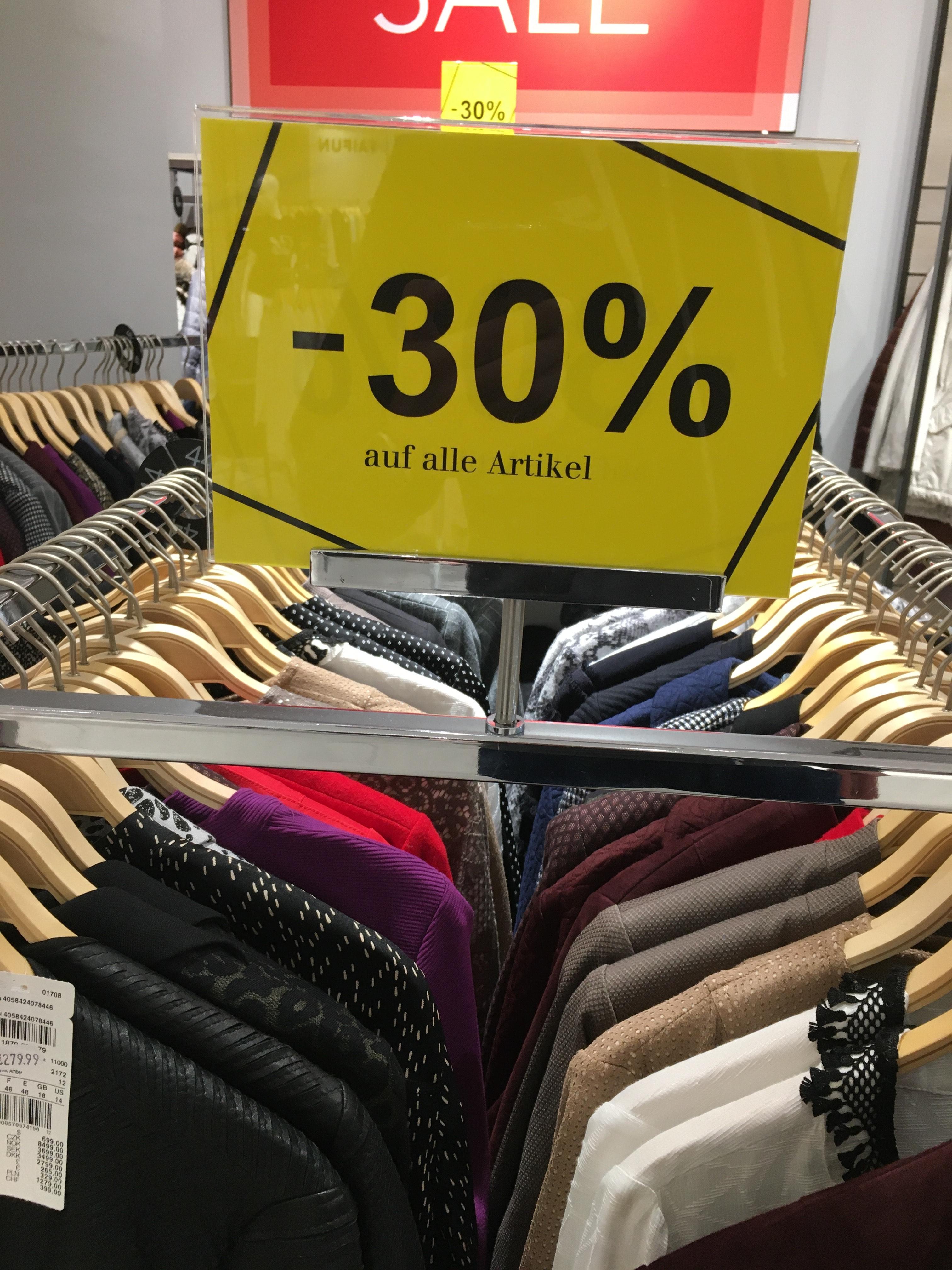 [Lokal-Münster] 30% auf alles bei Gerry Weber in den Münster Arkaden - Räumungsverkauf
