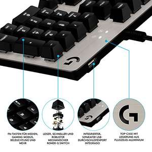 Logitech G413 Mechanische Gaming-Tastatur (Deutsches Layout) silver