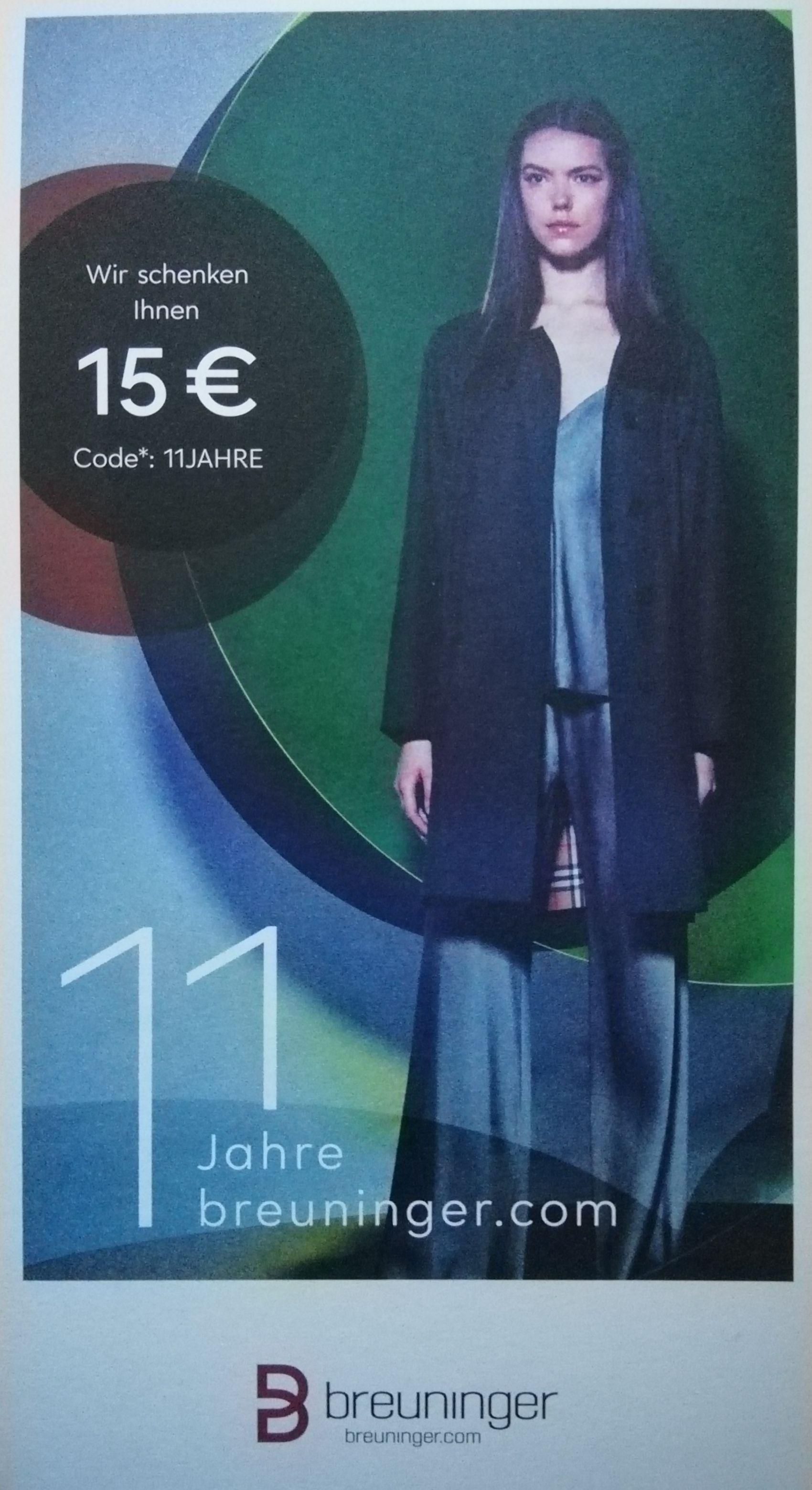 [Breuninger] -15€ bei MBW 99€ Gutschein