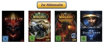 Amazon senkt erneut die Preise für die aktuellen Blizzard Titel (SC2, WoW, D3)