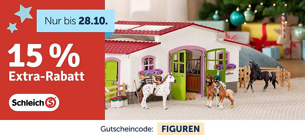 myToys: 15% Extra-Rabatt auf Schleich (MBW: 29€)