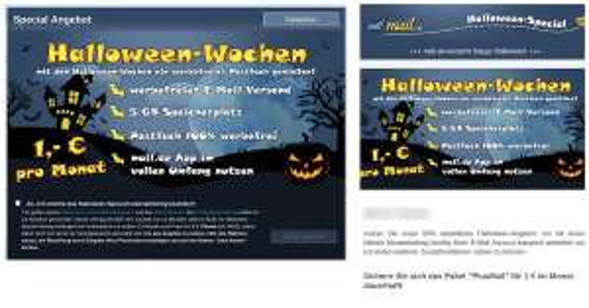Mail.de Plusmail-Paket für 1,00 Euro pro Monat statt 1,99 Euro