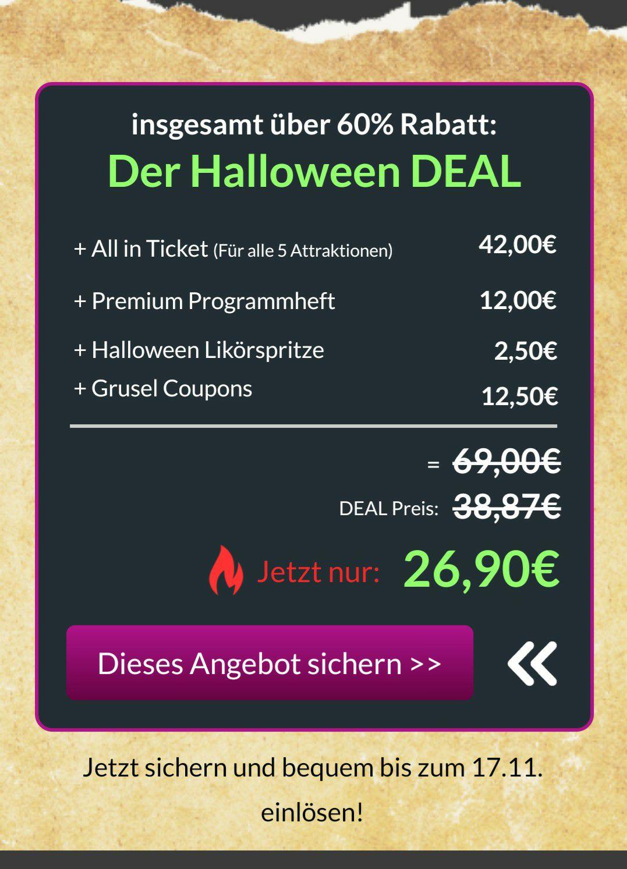 Halloween Deal Grusellabyrinth NRW Bottrop