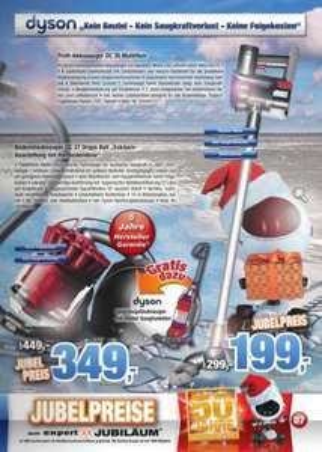 DYSON - lokale Angebote bei Expert Bening DC35 bzw. DC37 für -100€