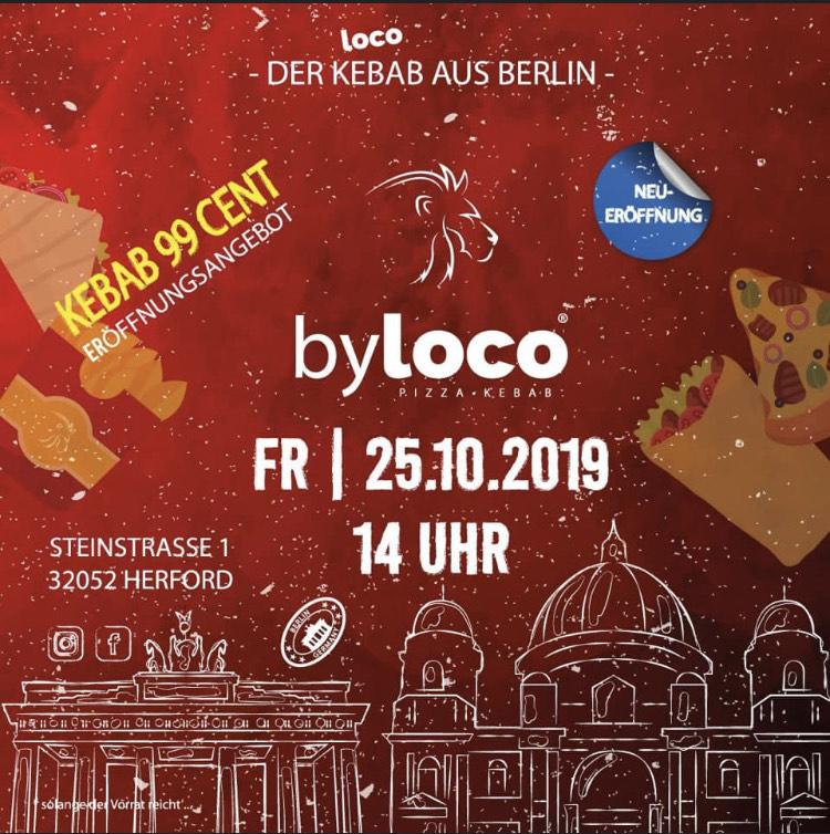 Neueröffnung byLoco Kebab für 0,99€ [ Standort Herford ]