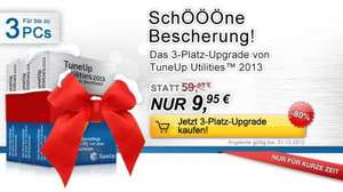 Weihnachts-Wunder: 3-Platz-Upgrade NUR 9,95 €! -80% TuneUp Utilitie  2013