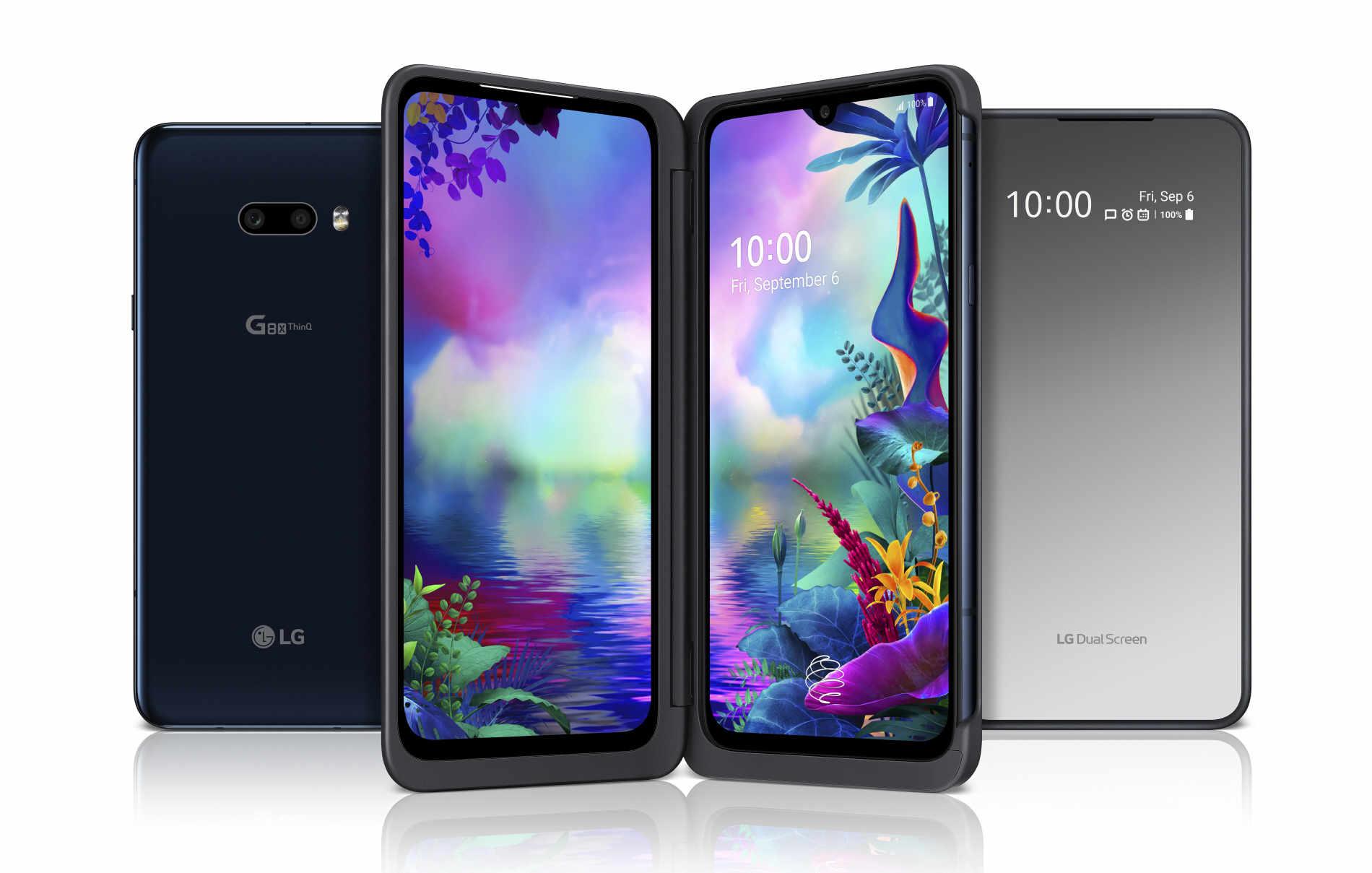 LG G8X ThinQ Dual Screen für 29€ Zuzahlung + 200€ Cashback + PremiumSIM LTE M (4GB LTE) für mtl. 38,99€