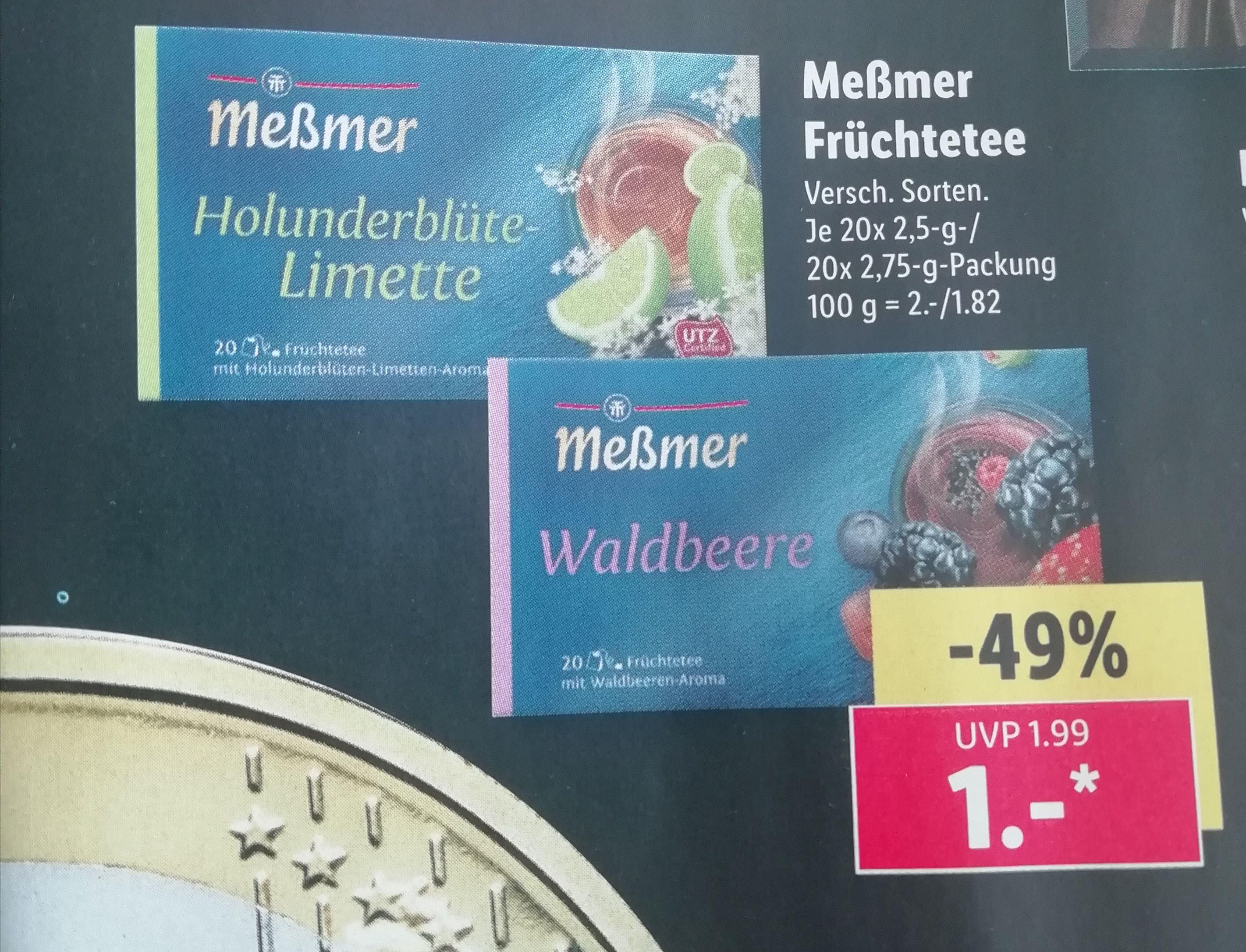 [Lidl ab 28.10.19] Meßmer Früchtetee für nur 1€!