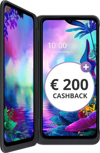 LG G8X ThinQ Dual Screen Smartphone + LTE 3 GB ***200€ Cashback*** eff. 741,75€ / 1 Gb eff. 705,75€  [Yourfone.de]