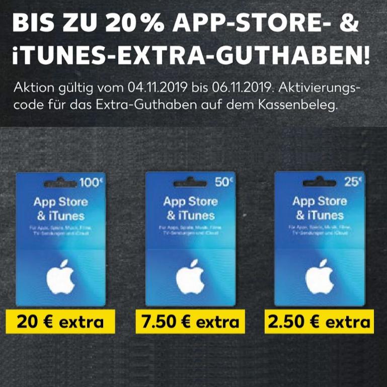 [Rossmann] Bis zu 20% extra Guthaben auf App Store & iTunes Geschenkkarten