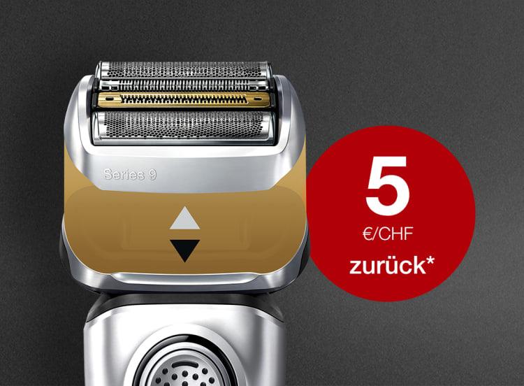 Braun Scherteil Cashback - bis zu 4 kaufen und jeweils 5 €/CHF zurück erhalten