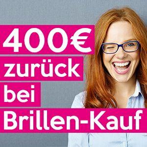 400€ Rückerstattung auf Brillen + 1.000€ Rabatt für Augen lasern