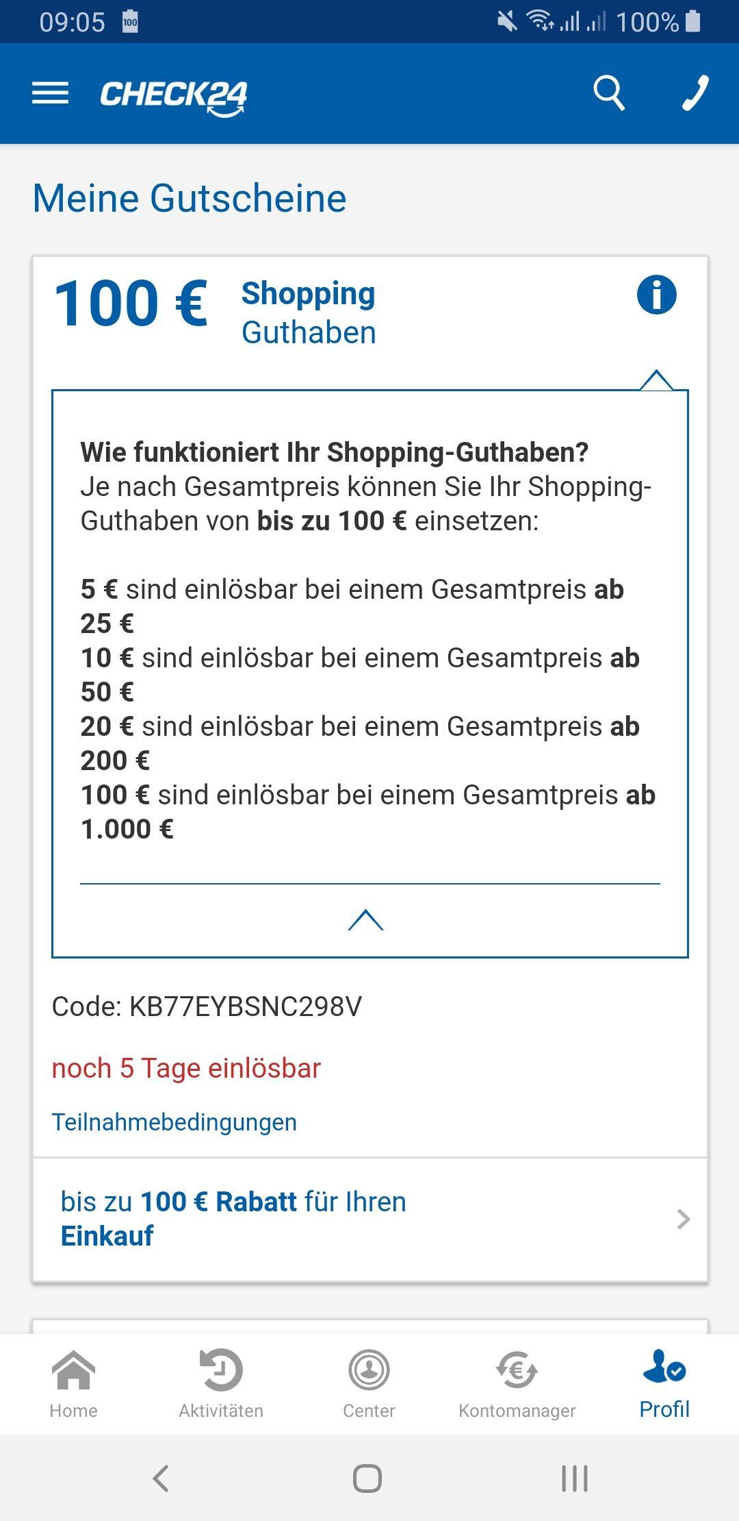 Check 24 Gutscheincode bis 31.10.