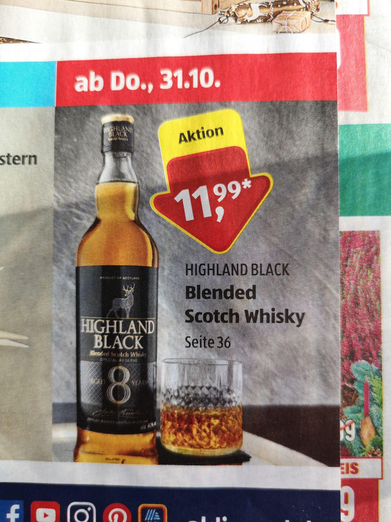 Highland Black Whisky von Aldi
