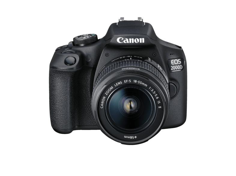[Mediamarkt] CANON EOS 2000D Kit Spiegelreflexkamera, 24.1 Megapixel, Full HD, 18-55 mm Objektiv (EF-S, IS II), WLAN, Schwarz