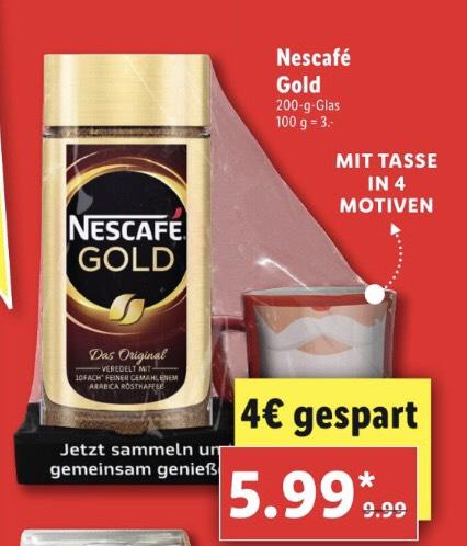 Nescafé Gold 200 gr + Kaffeebecher