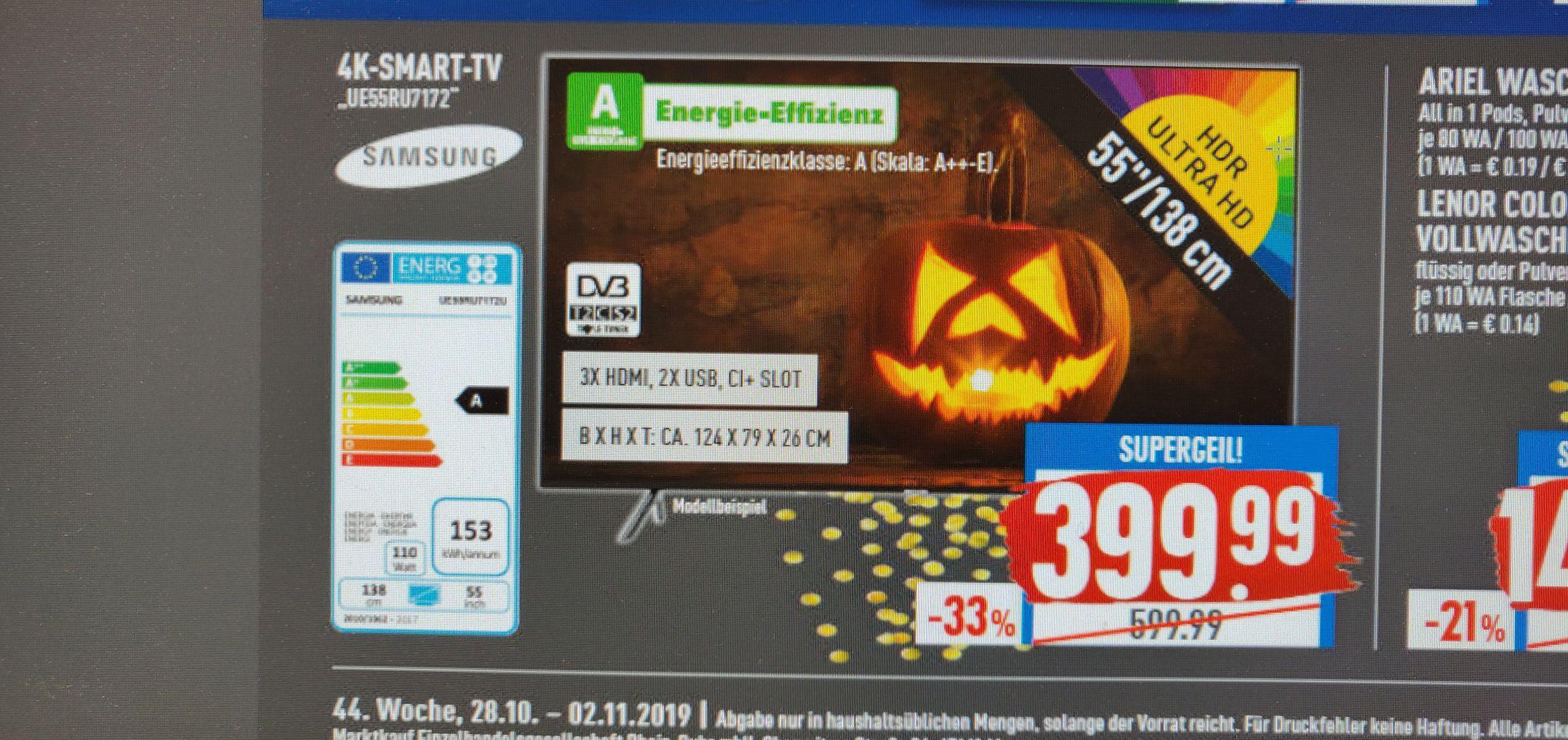 [Marktkauf Rhein-Ruhr] Samsung UE 55 RU7172 4K Smart TV
