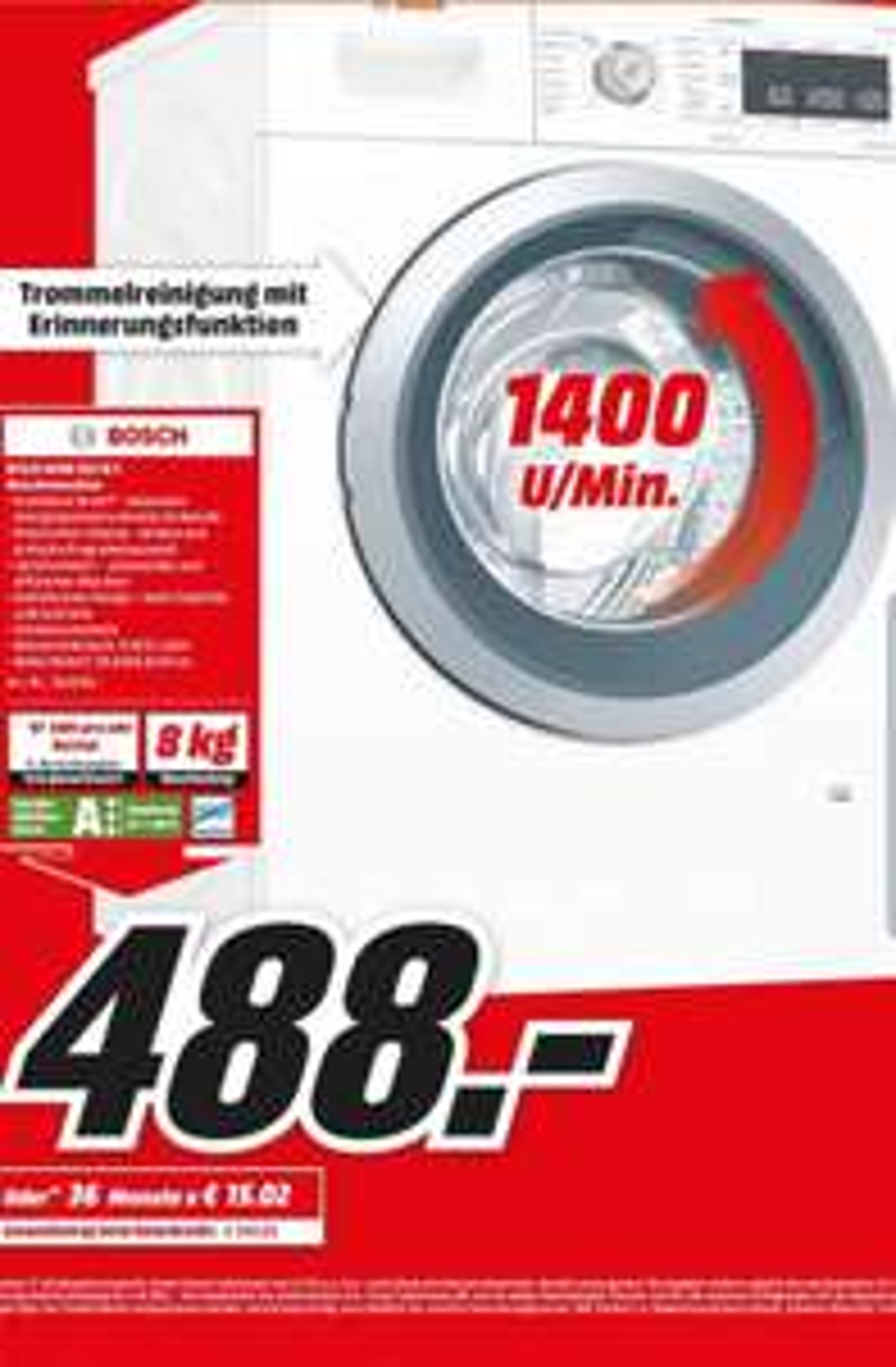 Lokal (Berlin-Tegel) Bosch WAW 285 W5 Waschmaschine