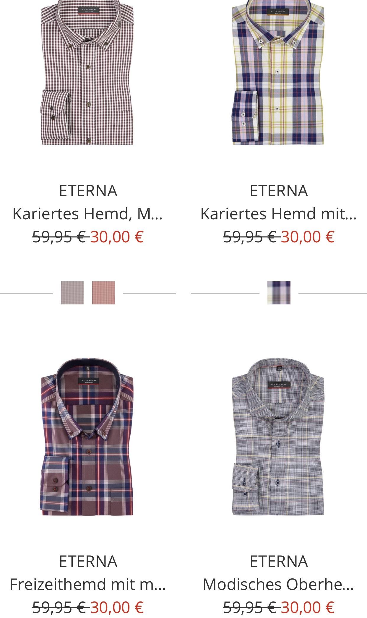 Olymp & Eterna Hemden / Sale bei Hirmer 50%